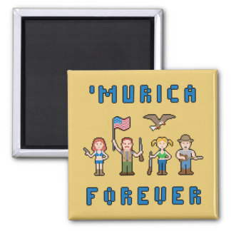 Pixel 'Murica Square Magnet
