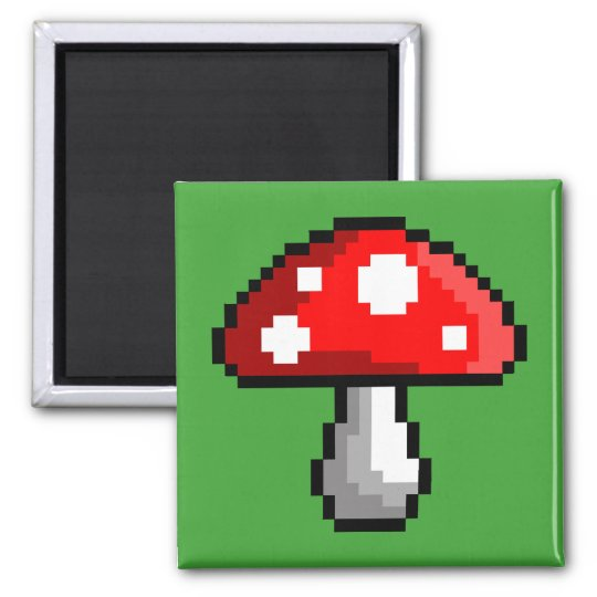 Pixel Mushroom Magnet