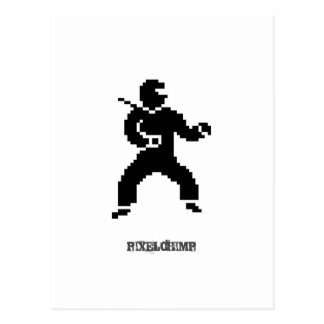 Pixel Ninja Side Post Card