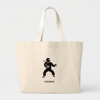 Pixel Ninja Side Jumbo Tote Bag