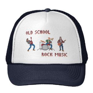 Pixel Old School Rock Music Cap
