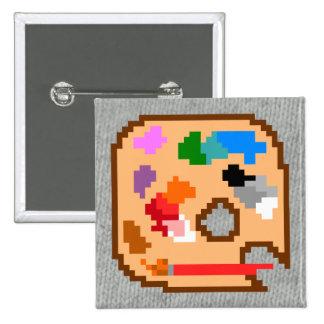 Pixel Palette 15 Cm Square Badge