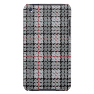 Pixel Plaid in Grey with Red Stripe Case-Mate iPod Touch Case