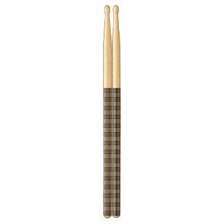 Pixel Plaid in Grey with Red Stripe Drumsticks