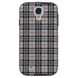 Pixel Plaid in Grey with Red Stripe Galaxy S4 Case