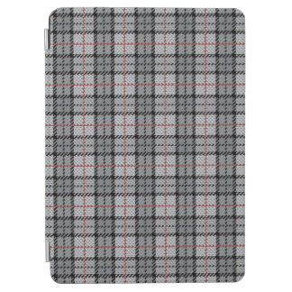 Pixel Plaid in Grey with Red Stripe iPad Air Cover