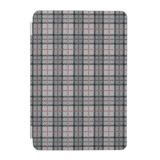 Pixel Plaid in Grey with Red Stripe iPad Mini Cover