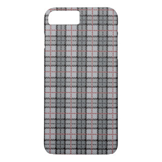 Pixel Plaid in Grey with Red Stripe iPhone 8 Plus/7 Plus Case