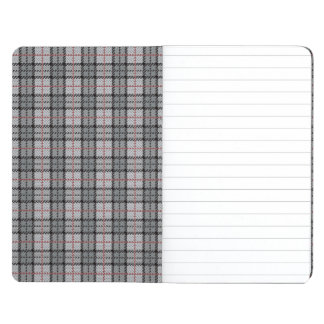Pixel Plaid in Grey with Red Stripe Journal