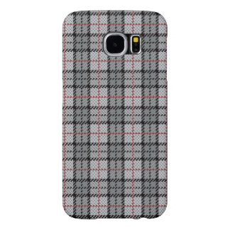 Pixel Plaid in Grey with Red Stripe Samsung Galaxy S6 Cases