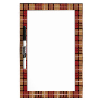 Pixel Plaid in Red and Gold Dry Erase Board