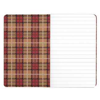 Pixel Plaid in Red and Gold Journal