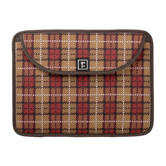 Pixel Plaid in Red and Gold MacBook Pro Sleeves