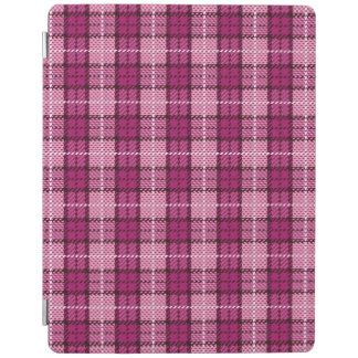 Pixel Plaid_Magenta-Black iPad Cover