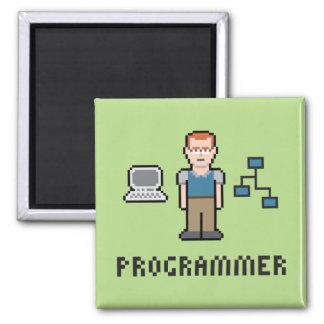Pixel Programmer Magnet 2 Inch Square Magnet