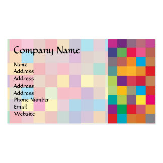Pixel Rainbow Square Pattern Business Card Template