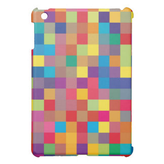 Pixel Rainbow Square Pattern Cover For The iPad Mini