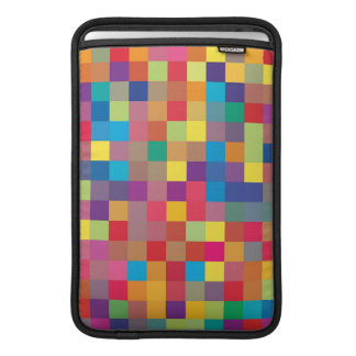 Pixel Rainbow Square Pattern Sleeve For MacBook Air