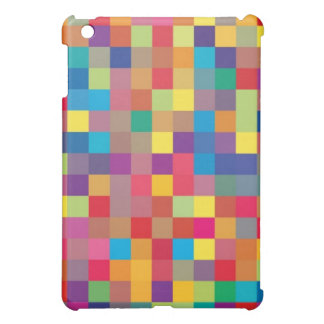 Pixel Rainbow Square Pern Cover For The iPad Mini