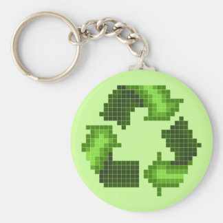 Pixel Recycle Keychain