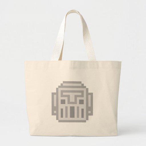 Pixel Robot Jumbo Tote Bag