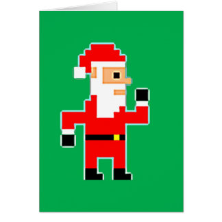 Pixel Santa Clause Card