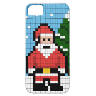 Pixel Santa iPhone 5 Cover