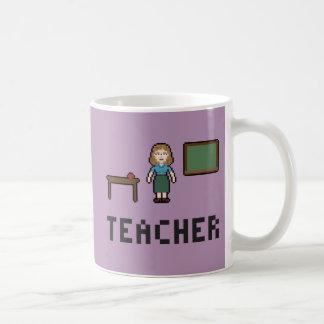 Pixel School Teacher Mug