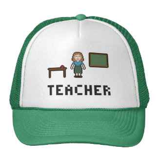 Pixel School Teacher Trucker Hat