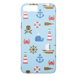 Pixel Sea Art Pattern iPhone 8 Plus/7 Plus Case