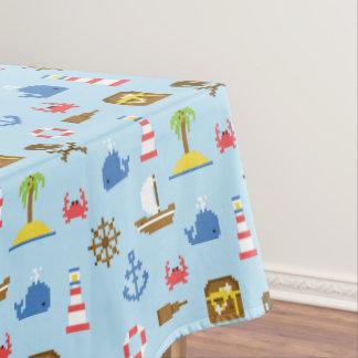 Pixel Sea Art Pattern Tablecloth
