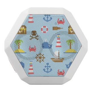 Pixel Sea Art Pattern White Bluetooth Speaker