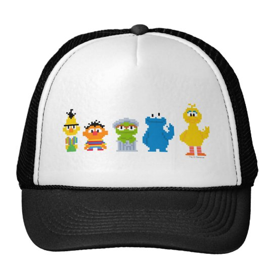 Pixel Sesame Street Characters Cap