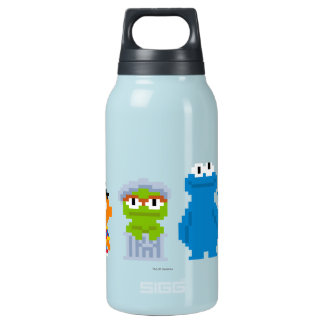Pixel Sesame Street Characters Insulated Water Bottle