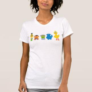 Pixel Sesame Street Characters T-Shirt