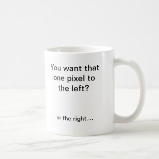 Pixel shifter coffee mug