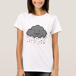 pixel-shower-cloud-multicolour.png T-Shirt