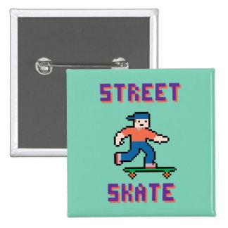Pixel Skater Button