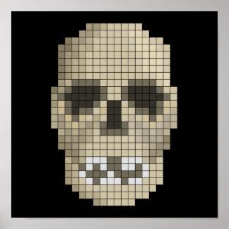 Pixel Skull Poster