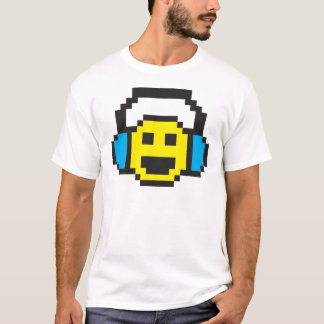Pixel Smiley DJ T-Shirt