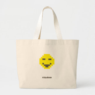 Pixel_Smiley Tote Bags