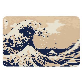 Pixel Tsunami 8 Bit Pixel Art Magnet