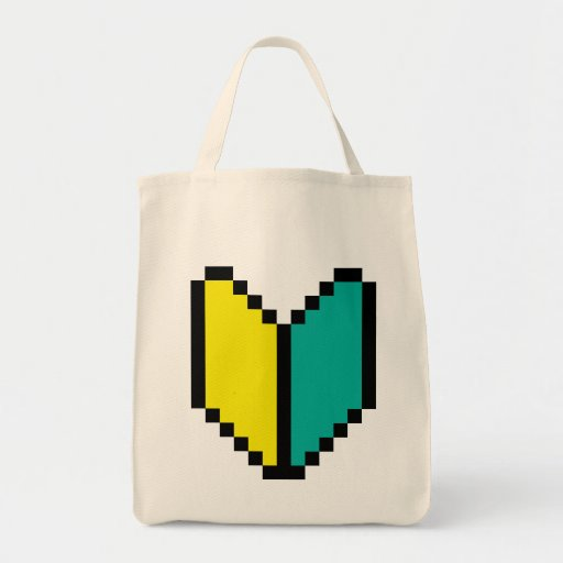 Pixel Wakaba / Shoshinsha Mark Canvas Bag