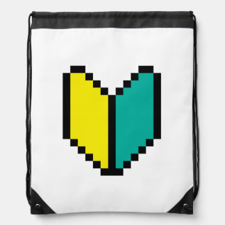 Pixel Wakaba / Shoshinsha Mark Drawstring Backpack
