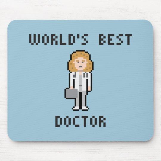 Pixel World's Best Doctor Female Version Mousepad