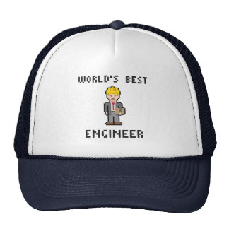 Pixel World's Best Engineer Hat