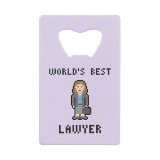 Pixel World's Best Female Lawyer Bottle Opener