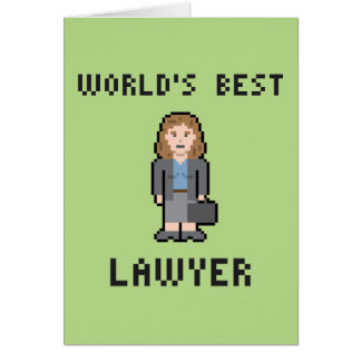 Pixel World's Best Female Lawyer Greeting Card