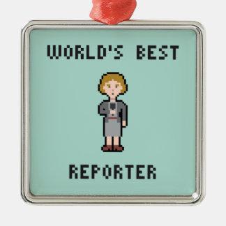 Pixel World's Best Female Reporter Christmas Ornament