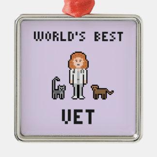 Pixel World's Best Female Vet Ornament